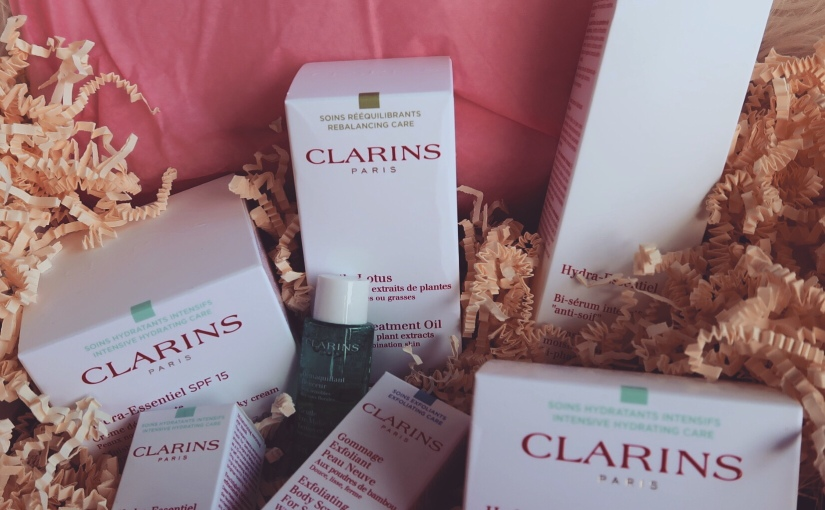 Skin care routine w/ Clarins